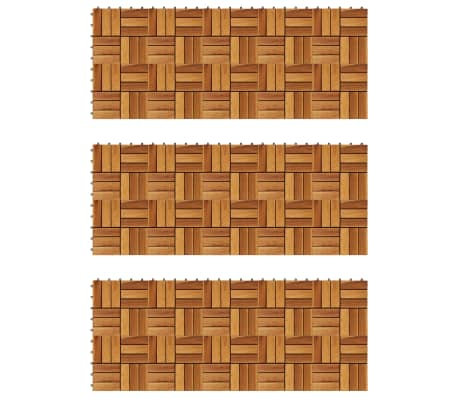 Decking Tiles 30 x 30 cm Acacia Set of 30[1/5]