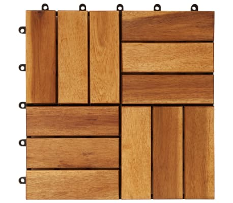 Decking Tiles 30 x 30 cm Acacia Set of 30[4/5]