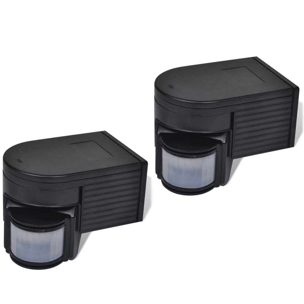 Detectori de mișcare cu infraroșu, 2 buc, negru poza vidaxl.ro