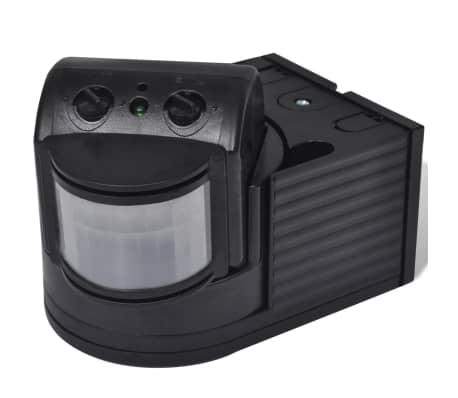 acheter vidaxl capteur de mouvement infrarouge 2 pcs noir pas cher. Black Bedroom Furniture Sets. Home Design Ideas