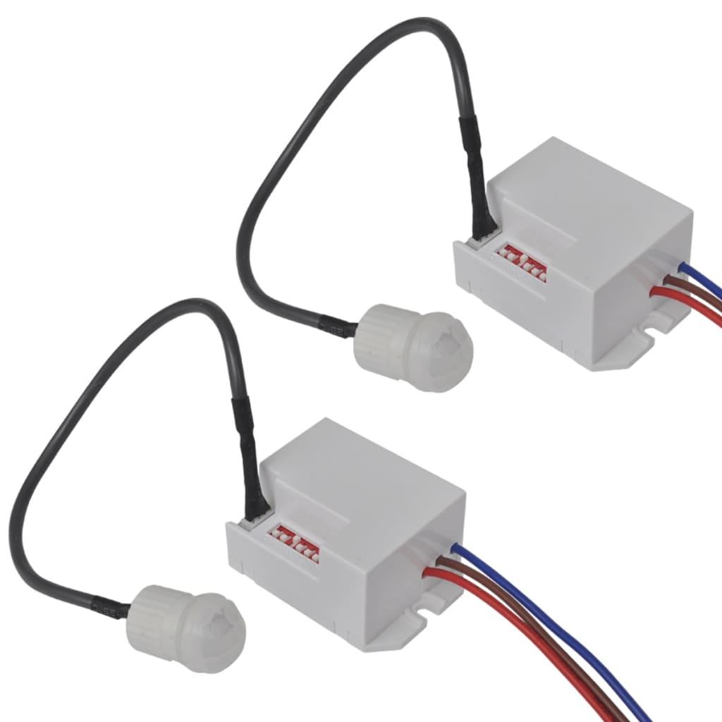 2 ks detektory pohybu pro LED lampy