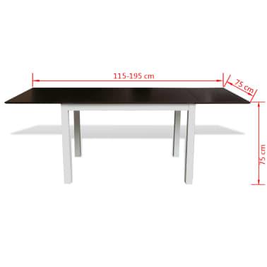 vidaxl ausziehbarer esstisch 195 cm massivholz braun wei g nstig kaufen. Black Bedroom Furniture Sets. Home Design Ideas