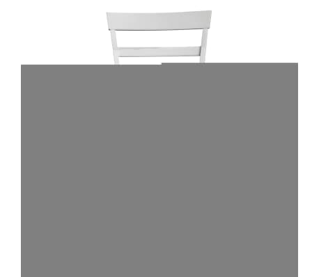 vidaXL Dining Chairs 2 pcs Solid Wood Brown and White[3/4]