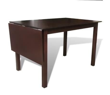"""vidaXL Extending Dining Table 59"""" Solid Wood Brown[3/4]"""