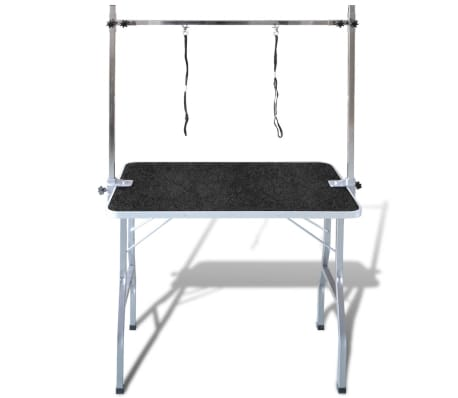 Adjustable Pet Dog Grooming Table with 2 Nooses[4/7]
