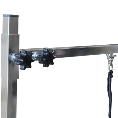 Adjustable Pet Dog Grooming Table with 2 Nooses[5/7]
