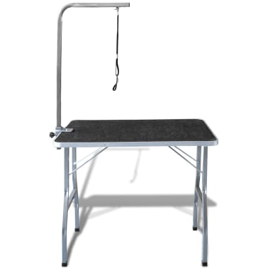 Portable Pet Dog Grooming Table with Castors[2/8]