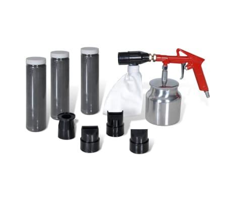 Air Sand Blasting Kit 3 Bottles & 4 Nozzles[1/4]