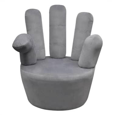 vidaXL Chair Hand-shaped Velvet Grey[2/5]