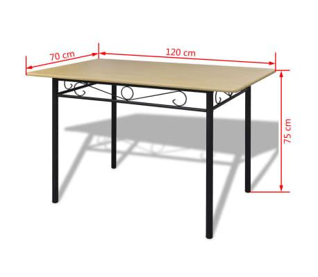 esszimmer set hellbraun 1 tisch mit 4 st hlen zum schn ppchenpreis. Black Bedroom Furniture Sets. Home Design Ideas