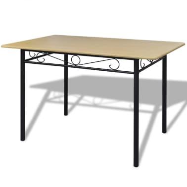 esszimmer set hellbraun 1 tisch mit 4 st hlen g nstig kaufen. Black Bedroom Furniture Sets. Home Design Ideas