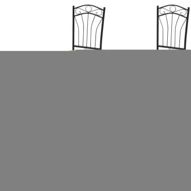 Dining Set 1 Table with 4 Chairs Light Brown[3/4]