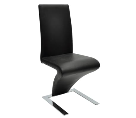 vidaXL Spisestoler 2 stk med jernbein kunstlær svart[4/6]