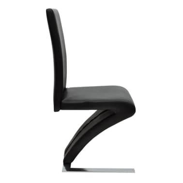 vidaXL Spisestoler 2 stk med jernbein kunstlær svart[5/6]