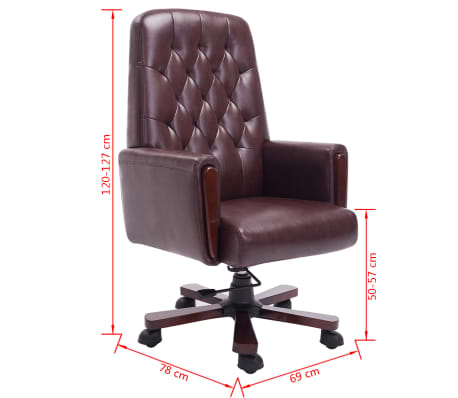 acheter fauteuil de bureau chesterfield marron en cuir artificiel pas cher. Black Bedroom Furniture Sets. Home Design Ideas