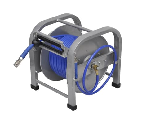 "Automatic Air Hose Reel Retractable 98' 5""[1/6]"
