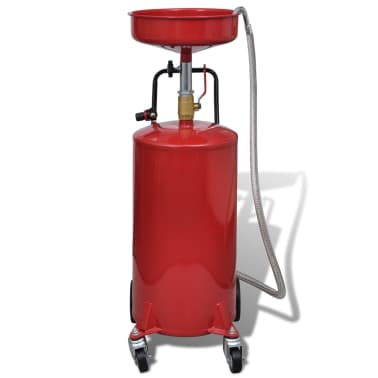 Pneumatic Portable Waste Oil Drain Tank 20 Gallon Air Operated[2/7]
