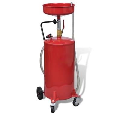 Pneumatic Portable Waste Oil Drain Tank 20 Gallon Air Operated[6/7]