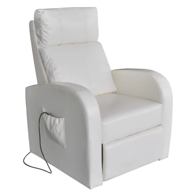 vidaXL Electric Massage Chair with Remote Control White[1/4]