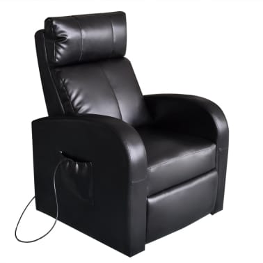 vidaXL Electric Massage Chair with Remote Control Black[1/4]