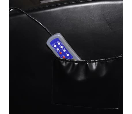 vidaXL Electric Massage Chair with Remote Control Black[4/4]