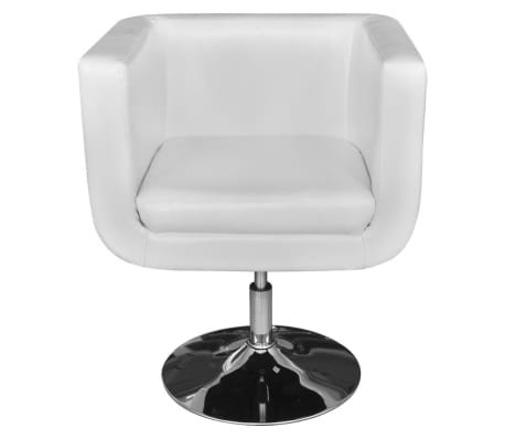 White Adjustable Arm Chair with Chrome Base[5/5]