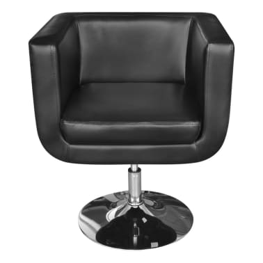 Black Adjustable Arm Chair with Chrome Base[2/5]