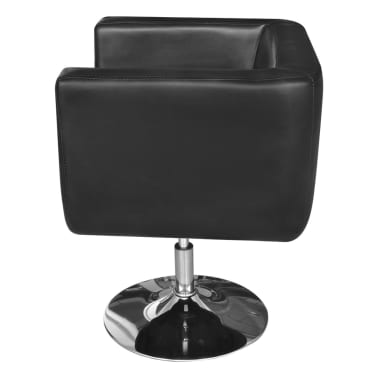 Black Adjustable Arm Chair with Chrome Base[3/5]