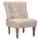 Cream French Chair High Quality Fabric