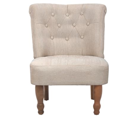 Cream French Chair High Quality Fabric[3/6]