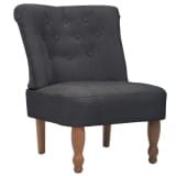 Gray French Chair High Quality Fabric