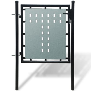 Portillon de jardin Single Noir 100 x 150 cm[1/4]