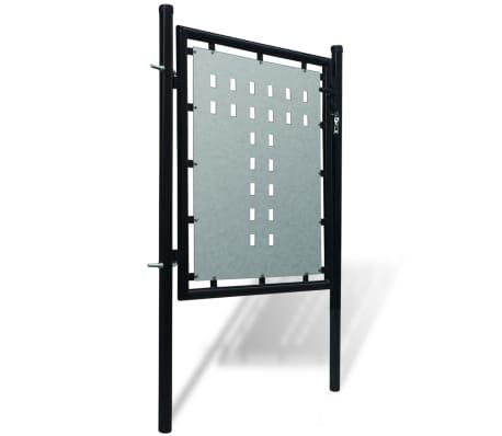 Portillon de jardin Single Noir 100 x 150 cm[2/4]