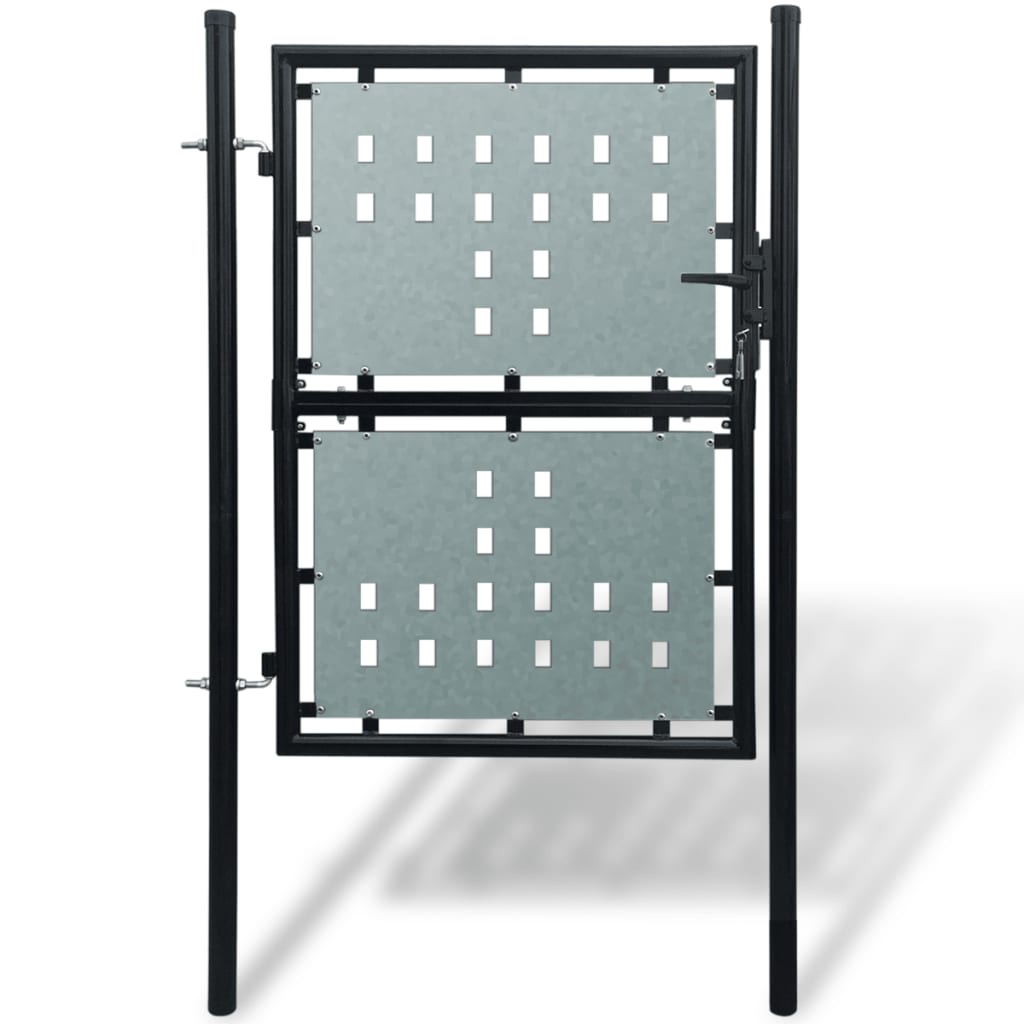 Černá jednokřídlá plotová branka 100 x 175 cm