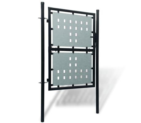 Portillon de jardin Single Noir 100 x 225 cm[2/4]