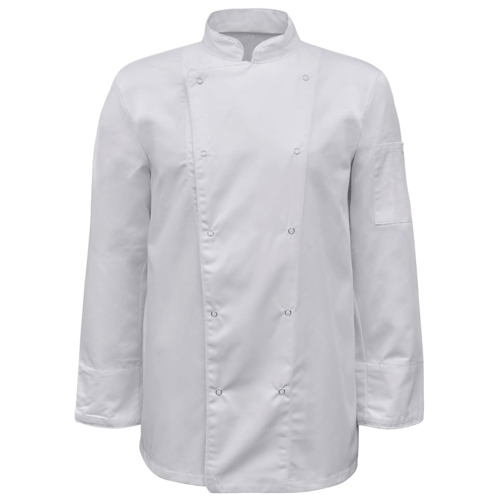 2 ks bílý kuchařský rondon s dlouhým rukávem, velikost S
