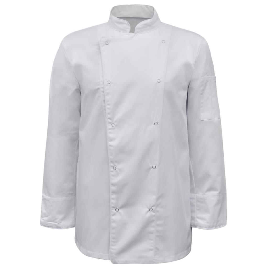 2 ks bílý kuchařský rondon s dlouhým rukávem, velikost L