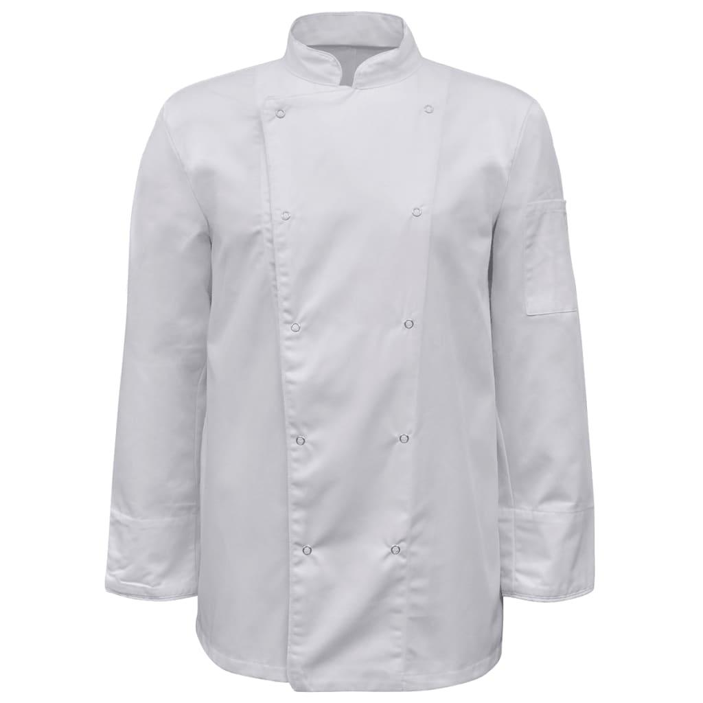 2 ks bílý kuchařský rondon s dlouhým rukávem, velikost XXL