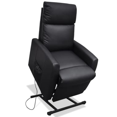 2-Position Electric TV Recliner Lift Chair Black[4/9]