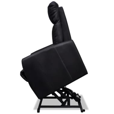 2-Position Electric TV Recliner Lift Chair Black[7/9]