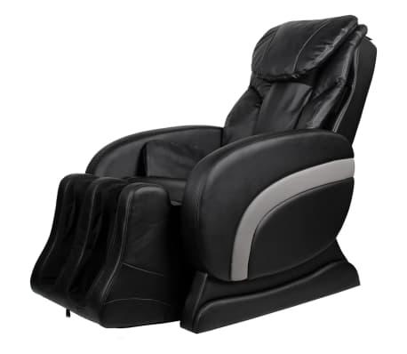 Electric Artificial Leather Recliner Massage Chair Black[1/11]