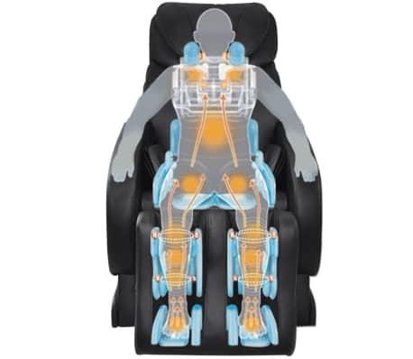 Electric Artificial Leather Recliner Massage Chair Black[7/11]