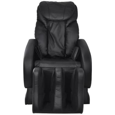 Electric Artificial Leather Recliner Massage Chair Black[3/11]