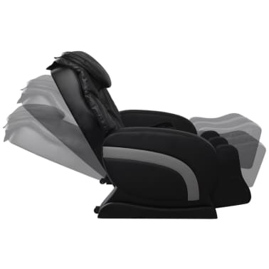 Electric Artificial Leather Recliner Massage Chair Black[6/11]