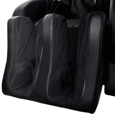 Electric Artificial Leather Recliner Massage Chair Black[9/11]