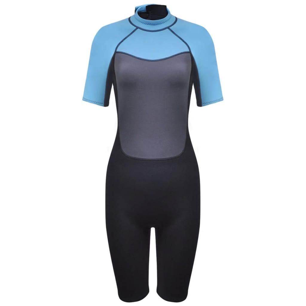 vidaXL Costum scurt sport acvatic femei lung L 165 - 170 cm 2,5 mm poza 2021 vidaXL