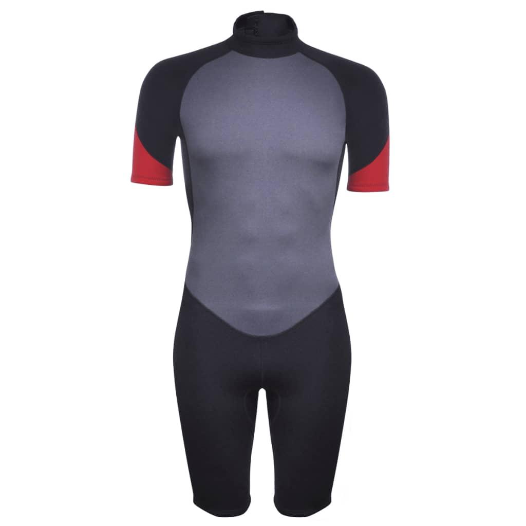 vidaXL Costum bărbătesc scurt sporturi acvatice XXL 185 - 190 cm 2,5 mm poza 2021 vidaXL