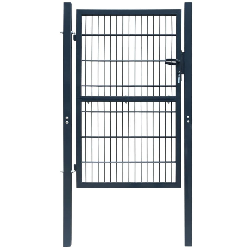 Poartă 2D pentru gard (simplă) 106 x 190 cm, gri antracit imagine vidaxl.ro
