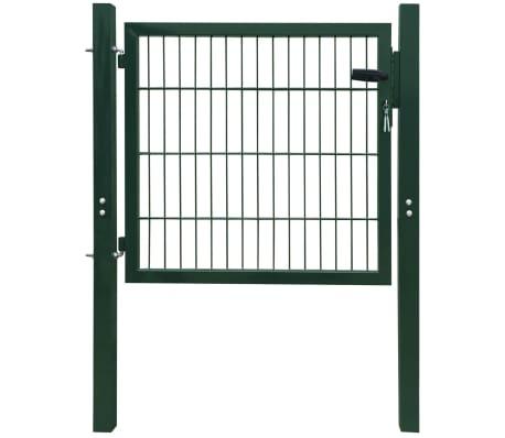 2D Bramka ogrodowa pojedyncza Zielona 106 x 130 cm[1/5]