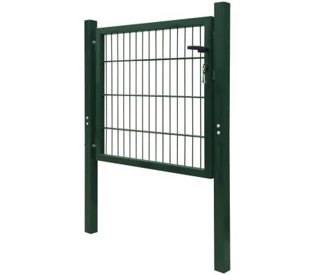 2D Bramka ogrodowa pojedyncza Zielona 106 x 130 cm[3/5]